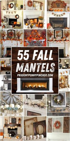 Rustic Fall Decor, Fall Home Decor, Autumn Home, Fall Mantel Decorations, Mantel Ideas, Mantles Decor, Christmas Decorations, Decorating Ideas, Decor Ideas