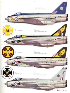 37 English Electric-BAC Lightning Page Fighter Aircraft, Fighter Jets, Side View Drawing, F35 Lightning, War Jet, Plan Drawing, Royal Air Force, Aviation Art, Military Art