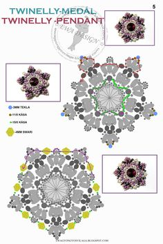 Pattern for a fabulous pendant using twin-holed beads, from  EWA's World of Beads. A great blog, in English and Hungarian.