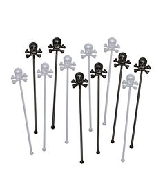 Skull Cocktail Stirrers
