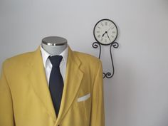 1980s Mustard Yellow Blazer / Vintage Suit Jacket / by BudeVintage