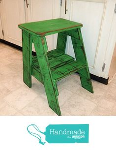 Rustic Wood Step Stool Shabby Chic Furniture / Bedroom Side Table / Cottage Farmhouse / Bohemian Decor / Step Ladder from RiversideStudio https://www.amazon.com/dp/B01LZ0YAA7/ref=hnd_sw_r_pi_dp_EkkXybRM7EC40 #handmadeatamazon