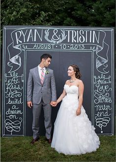 rustic chalkboard wedding backdrops with love quotes