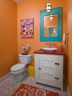 Banheiro colorido!