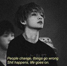 bts quotes Image shared by :: //. Find images and videos about kpop, black and bts on We Heart It - the app to get lost in what you love. Bts Lyrics Quotes, Bts Qoutes, Mood Quotes, True Quotes, Reality Quotes, Attitude Quotes, Quotes Quotes, Bts Wallpaper, Wallpaper Quotes