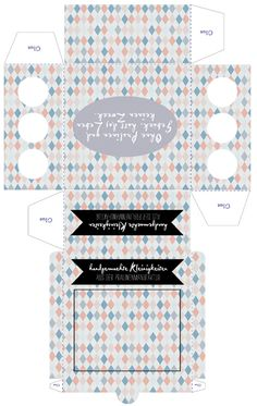 Meer by Anna-Maria Dahmen: Pralinen Box Template Macaroon Packaging, Printable Box, Free Printables, Diy And Crafts, Paper Crafts, Chocolate Packaging, Chocolate Box, Diy Box, Free Prints
