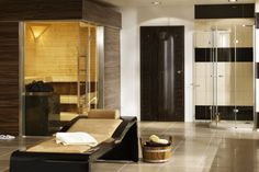 Home Sauna in pool house!