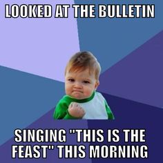 """Best. Morning. Ever. #lutheran #humor (If only my """"Lutheran"""" church followed Divine Service liturgy. Or ANY liturgy!)"""