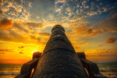 Cannon pointing at the sunset, Colombo, Sri Lanka Cultural Capital, Island Nations, Tour Operator, Sandy Beaches, Holiday Destinations, Sri Lanka, Traveling By Yourself, Tours, Marketing