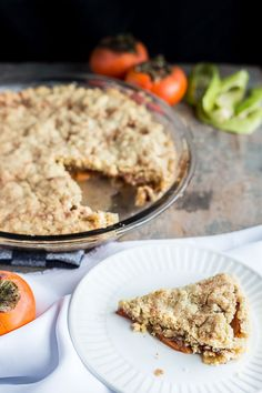 Easy Persimmon Apple Oat Crumble Pie - To cure the most insatiable hunger, this is the simple recipe to rule them all. With hints of sumac and cinnamon, set to impress with this after dinner treat. Vegetarian. | wandercooks.com