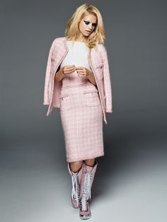 Nadine Leopold for Glamour Russia by Derek Kettela - CHANEL Fall 2014