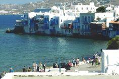 Little Venice of Mykonos, Greece August 2015