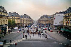 PARIS - Avenue de l'Opéra vista da sacada frontal do Opéra Garnier - http://fuievouvoltar.com