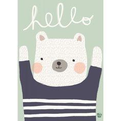 Aless Baylis hello bear poster