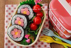 cherry blossom sushi roll