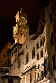 Palazzo Vecchio by night, Florence by archidave