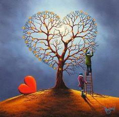 Kai Fine Art is an art website, shows painting and illustration works all over the world. Naive Art, Art For Art Sake, Heart Art, Whimsical Art, Tree Art, Belle Photo, Amazing Art, Illustrators, Fantasy Art