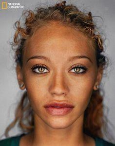 Beautiful multiracial woman