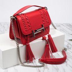 745b29bdb8 BISON DENIM Luxury Handbags Women Bags Designer Vintage Leather Shoulder  Bags for Women 2018 Weaving Lady
