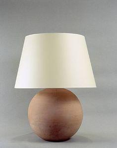 Jean-Michel Frank, Lampe boule en terre cuite #lighting #modernism #interiordecoration