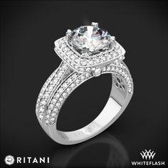 Ritani 1RZ3156 Halo Diamond Engagement Ring