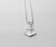 Anchor Necklace Sterling Silver by GirlBurkeStudios on Etsy, $25.00