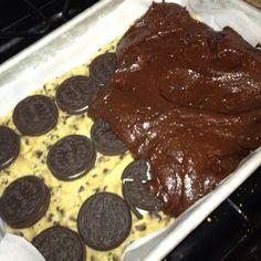 Oreo Brownies  Madee THiss (;