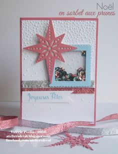 Stampin' Up! Star of Light bundle shaker card, Softly Falling TIEF, Glitter Ribbon #StarofLight