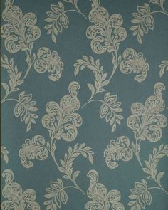 Brewster Wallpaper 59-54124 Karimah Green Jacobean