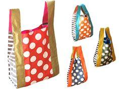 【メール便で送料無料】【spiaceri/スピーアチェリシリーズ002】everydayショッピングバッグ/レジバッグ/エコバッグ/マイバッグ/レジ袋型ミニマイバッグ Bag Pattern Free, Casual Bags, My Bags, Textile Art, Sewing Projects, Artsy, Tote Bag, Wallet, Fabric