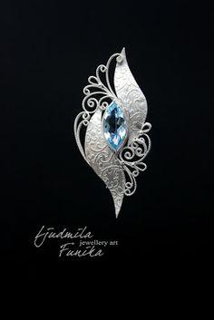 """Ljudmila Funika Jewellery Art: Rinnaehe """"Veeallikas"""""""