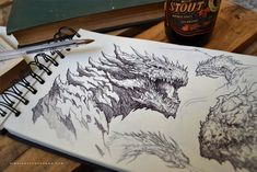 Dragons :) by Dibujante-nocturno.deviantart.com on @DeviantArt