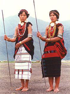 Naga Women at Monyu Festival.