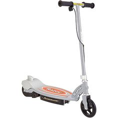 Razor Accelerator 12-volt Electric Scooter, Available in Multiple Colors (00845423010171) Razor Accelerator 12-volt Electric Scooter, Available in Multiple Colors: High-torque, chain-driven motor Motorized scooter operates on one 12V sealed lead acid battery (included) UL battery charger included Battery charges in 12 hours Continuous run time: 50 minutes Push-button throttle Top speed: 9 mph Rear foot brake 140mm urethane front and rear wheels with ABEC-5 bearings Rubber handle grips Steel…