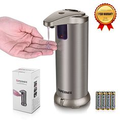OPERNEE Automatic Soap Dispenser with 1Pack Batteries >>> Click image to review more details. Note:It is Affiliate Link to Amazon.