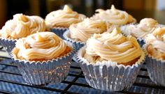 Pumpkin Cupcakes with Maple-Cinnamon Cream Cheese Frosting // A Cedar Spoon @OXO