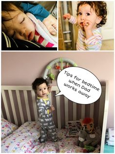 Tips for Bedtime Routines When Dad Works Away.