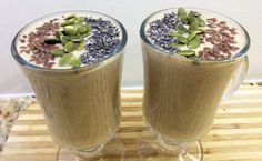 Quick, easy and healthy breakfast smoothie. This breakfast smoothie is vegan and gluten-free, loaded with superfoods like Chia, Hemp seeds, Fruits and Nuts. Vegan Breakfast Smoothie, Hemp Seeds, Superfoods, Fresh Fruit, Healthy Recipes, Health Recipes, Super Foods, Healthy Cooking Recipes, Eat Clean Recipes