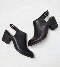 Black Cutout Slingback Booties