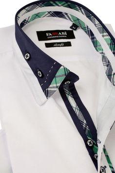 F4 White Shirt | Farrabi Slim Fit | Exclusive Luxury Shirts