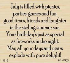 DRS Designs - July Birthday Greeting, $10.00 (http://www.drsdesigns.com/july-birthday-greeting/)