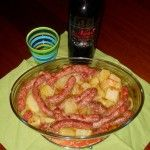 le mie salsicce al forno con patate