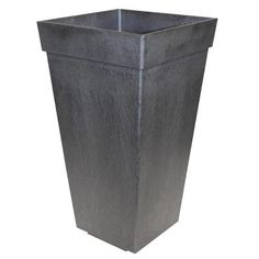 Tierra Verde 11 in. x 20 in. Pewter Self-Watering Rubber Planter-MT5100114 - The Home Depot