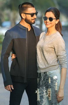 Ranveer Singh and Deepika Padukone at a promo event for #BajiraoMastani. #Bollywood #Fashion #Style #Beauty #Hot #Handsome