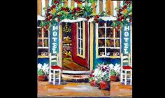 How to Paint a Street Scene Village Hotel  with  Ginger Cook live