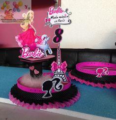 Centros de mesa infantiles de la barbie - Imagui