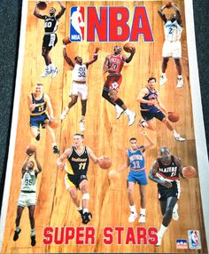 NBA SUPERSTARS 1993 Action Poster MICHAEL JORDAN, Chris Mullin, Mark Price, ++++ - Sold for $19.99 May 2013 pretty sure I had this poster