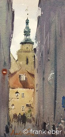 Frank Eber : Original watercolor landscape paintings : The Europe 2013 gallery