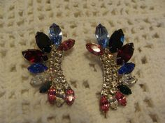 Vintage Costume Jewelry multi colored Rhinestones by TheClassyLady