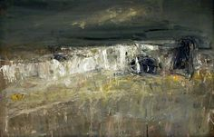 'A Stormy Sea No.1' (1960) Joan Eardley (1921-1963).  Oil on hardboard, 96.5 x 145.5 cm.